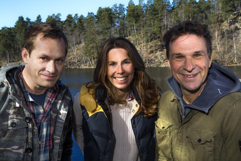 Ander Lundin med kollegorna Joakim Odelberg och Magdalena Forsberg.