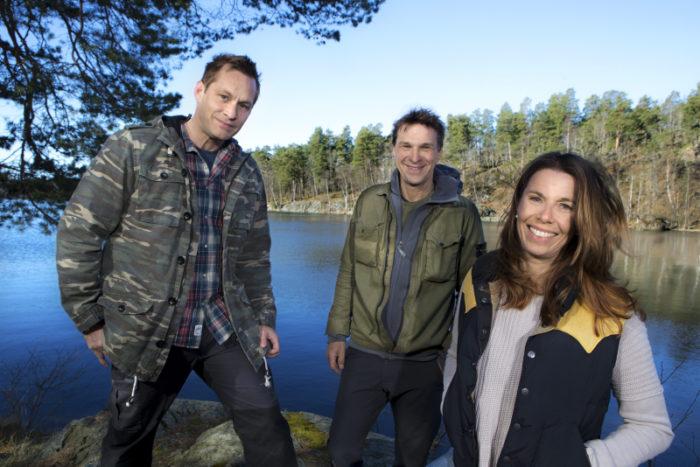 """Joakim Odelberg, Magdalena Forsberg och Anders Lundin är ny programledartrio i """"Mitt i naturen"""""""
