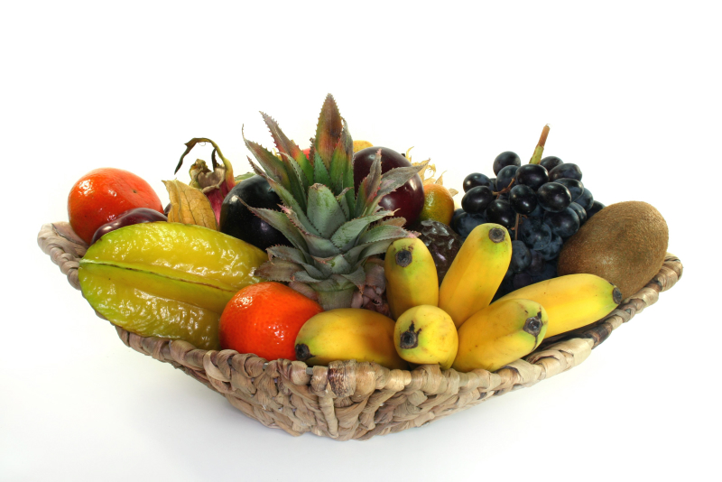 fruktfat, bananflugor