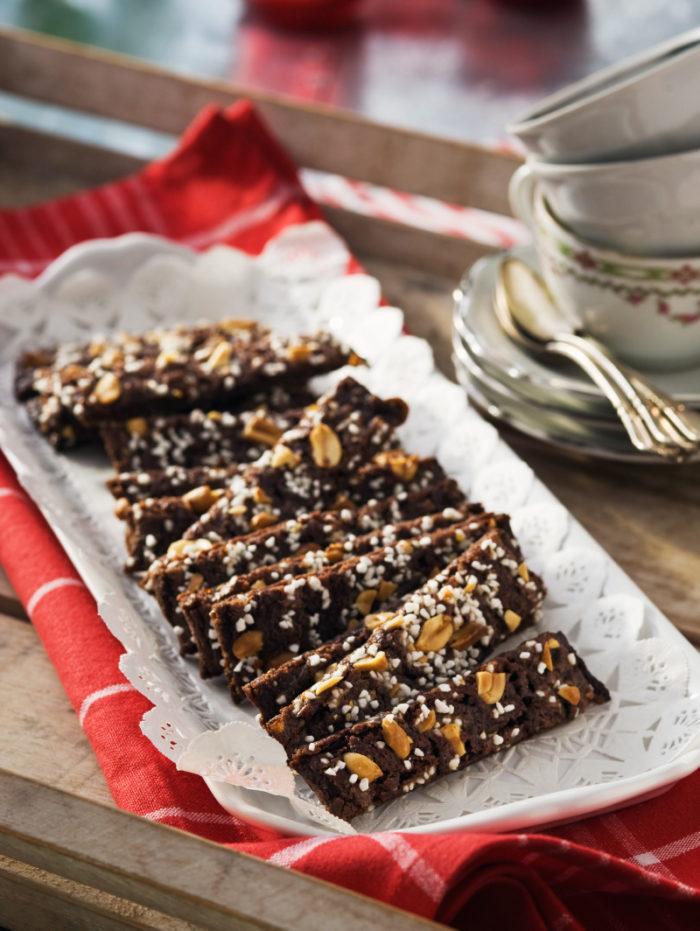 Choklad- och jordnötssnittar