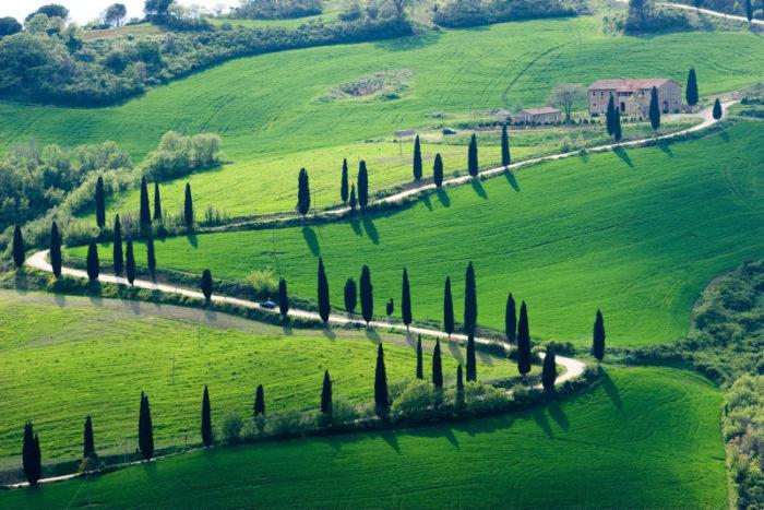 Älskar sitt Toscana.