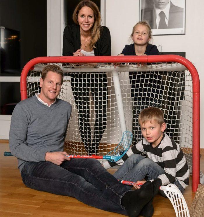 r?tt bilder Niklas Jihde med Familj
