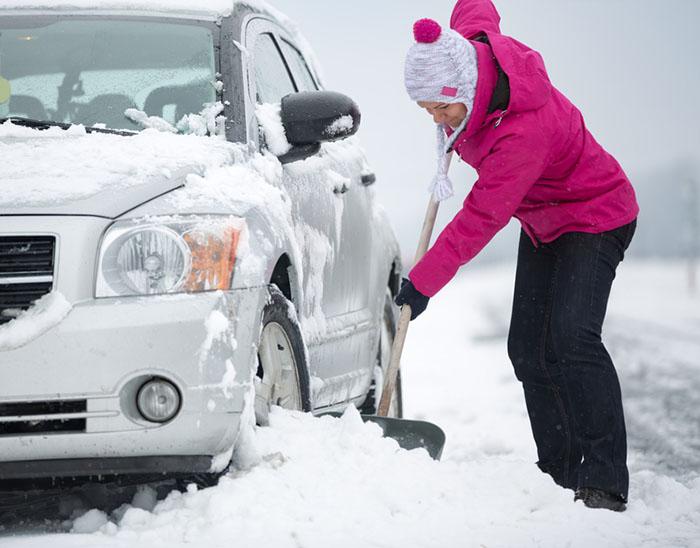 saker du behöver i bilen vintertid