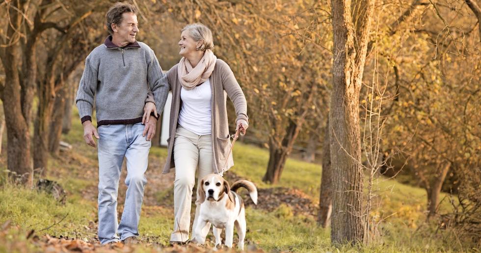 Kort promenad minskar risken for sjukdomar