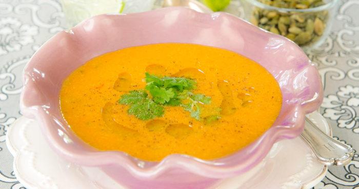 Pumpasoppa med chili och ingefära recept