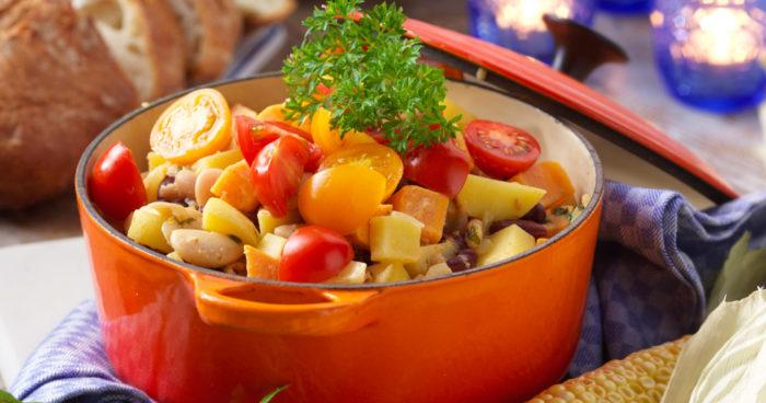 Vegetarisk gryta med sötpotatis och rotselleri recept