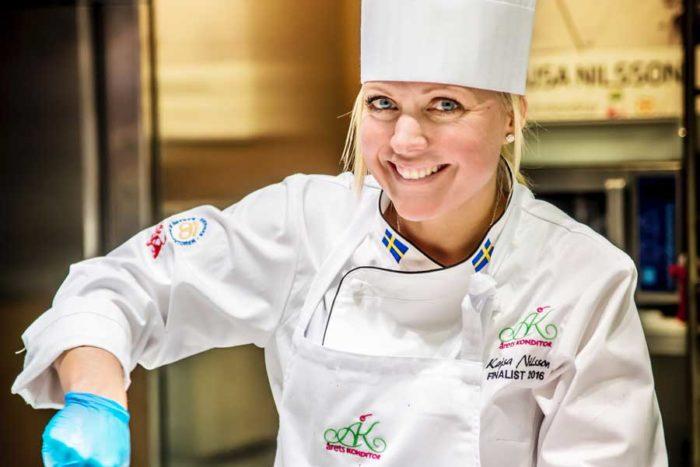 Kajsa Nilsson är en av landets bästa konditorer. Bild: Sveriges bagare och konditorer