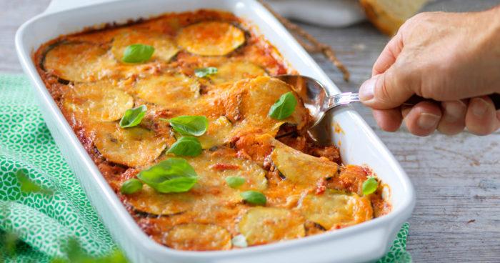 Vegetarisk gratäng med zucchini recept