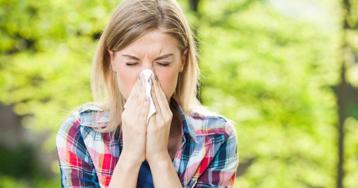 trött av allergi