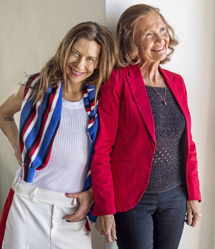 Caroline af Ugglas med sin mamma Yvonne