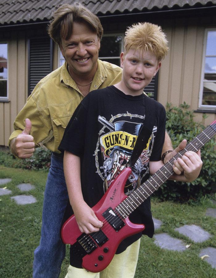 Oscar och pappa Sven-Erik 1992