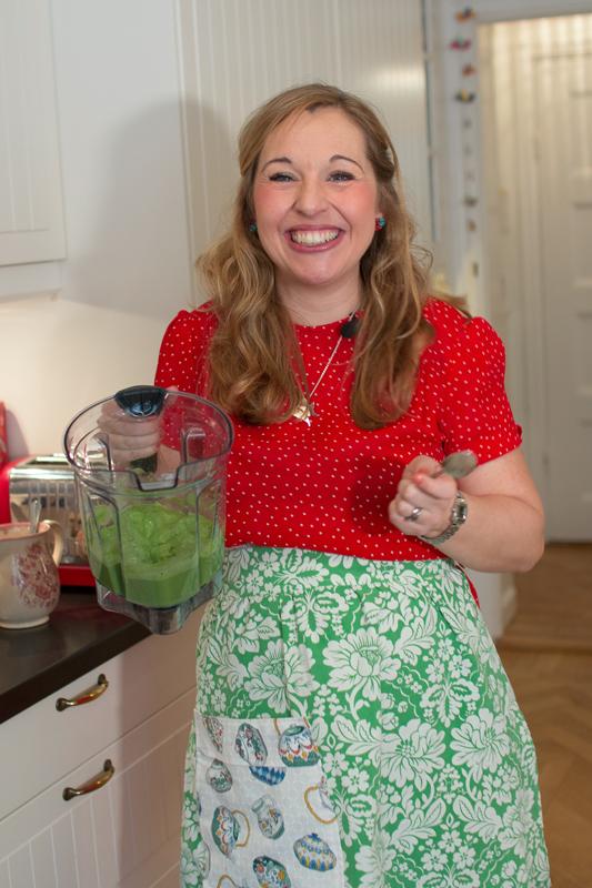 Jennie Everman Thuresson i sitt kök.