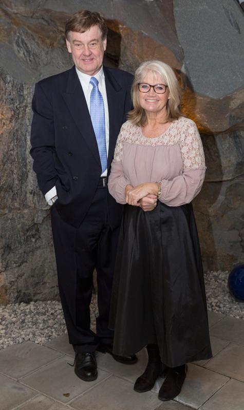 Ann-Britt Ryd Pettersson och maken Björn Ryd på Stockholm Human Rights Award 2016 i Berwaldhallen i Stockholm.