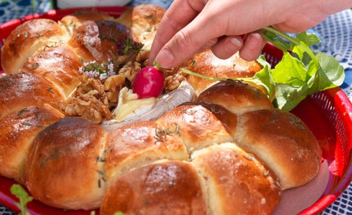 Brytbröd med camembert