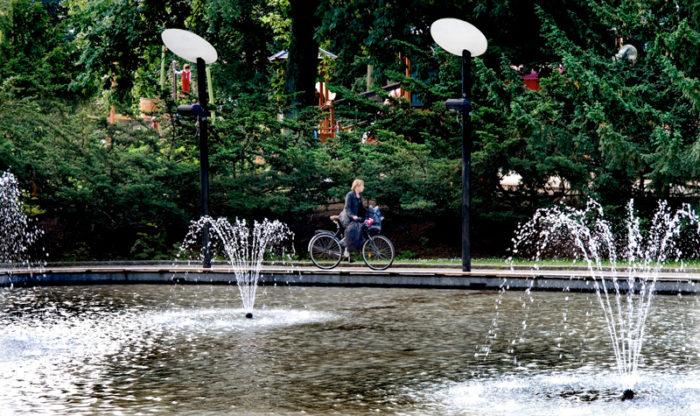 Damm i Folkets park i Malmö.