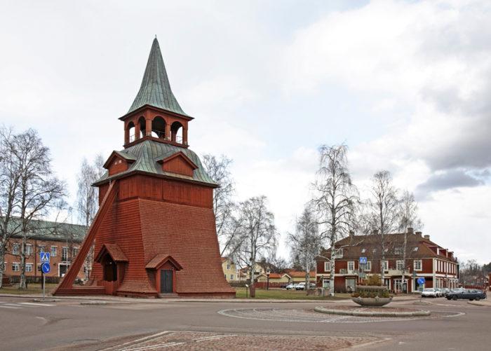 Kyrka i Mora i Dalarna i Sverige.