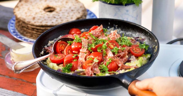 Omelett med lök