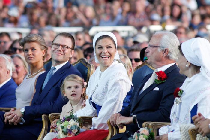 Kronprinsessan Victoria i samband med Victoriadagen på Borgholm 2017.