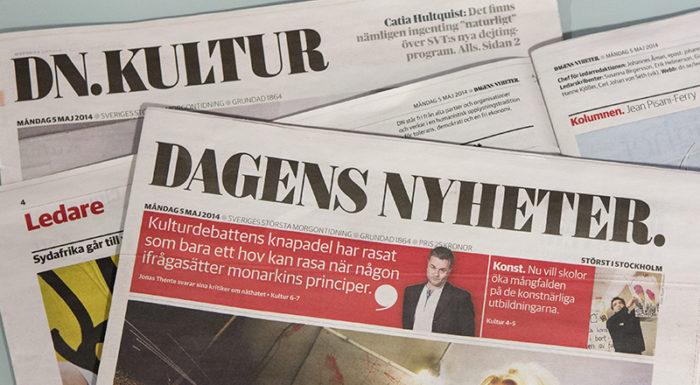 Fler dagstidningar från Dagens Nyheter, DN.