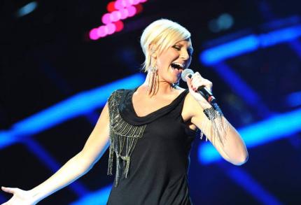 Sanna har tävlat i Melodifestivalen hela 7 gånger nu. Här är hon 2007.