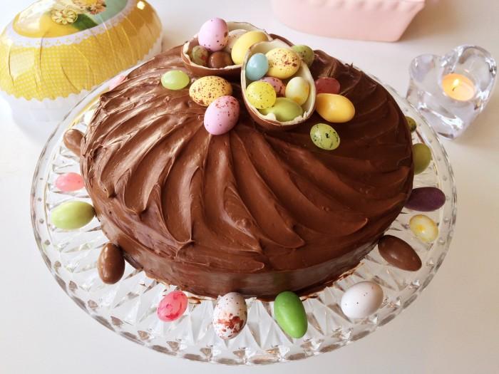 Glutenfri chokladtårta till påsk