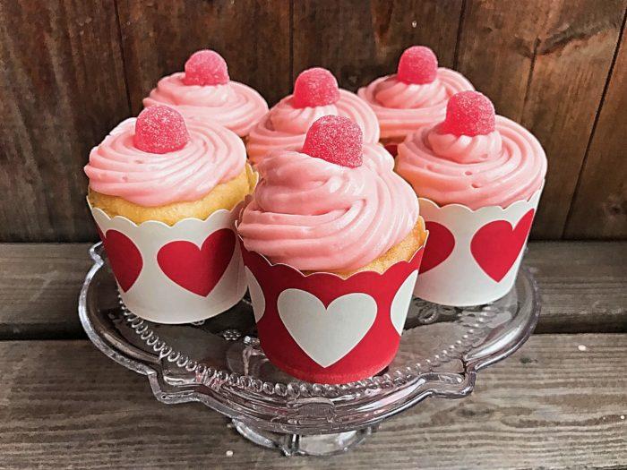 Glutenfria geléhalloncupcakes