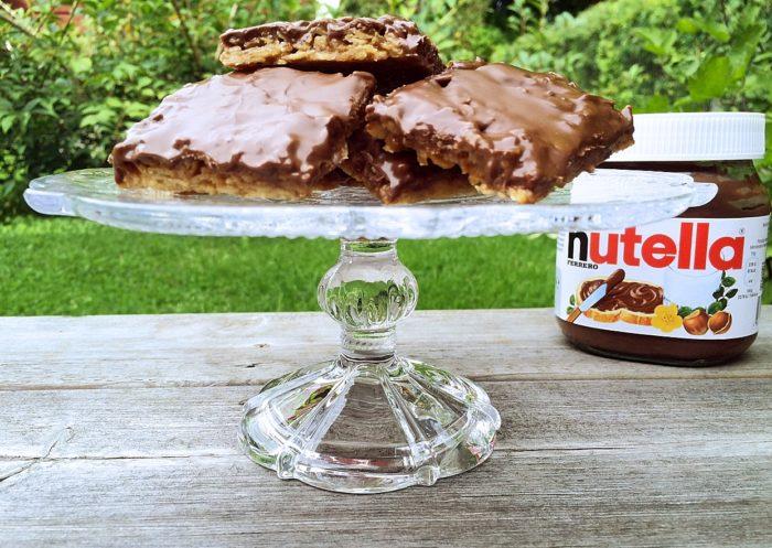 Glutenfria havrerutor med nutella