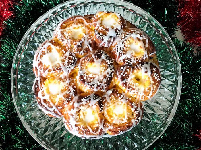 Glutenfri saffransbutterkaka med glasyr