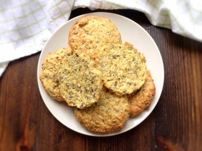 Glutenfria chiabröd utan mjöl