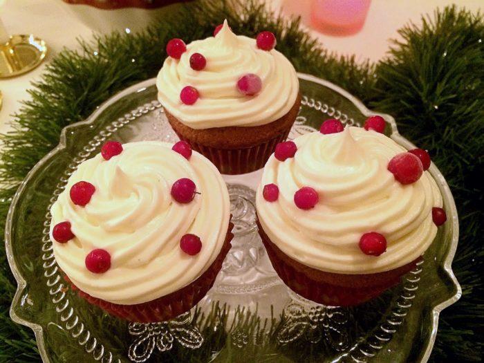 Glutenfria pepparkakscupcakes