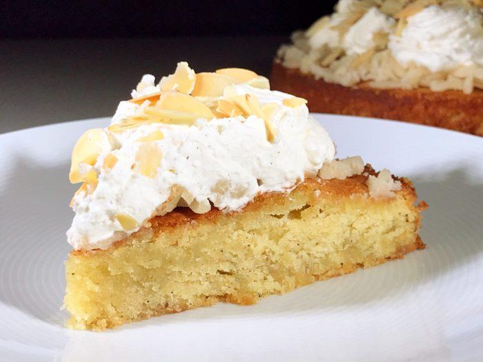 Glutenfri semmelkaka tårtbit