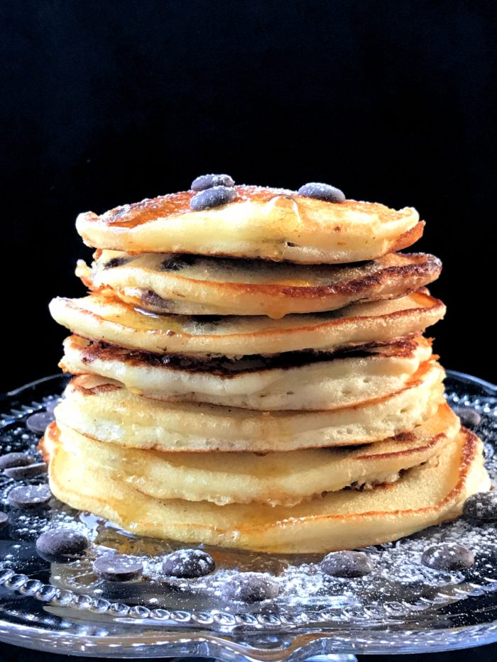 Glutenfria chocolate chip pancakes