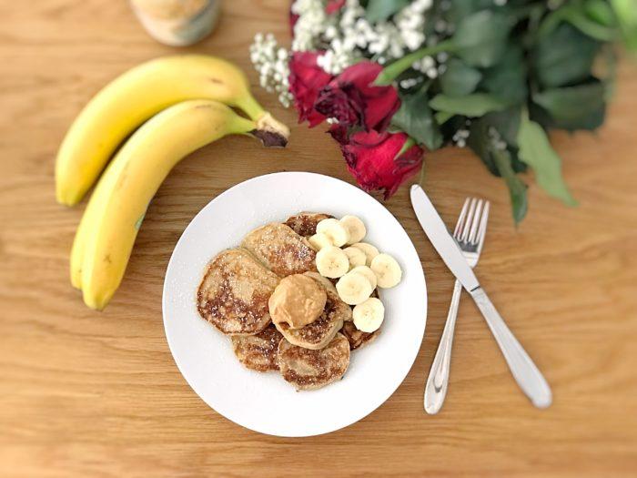 Bananpannkakor med jordnötssmör