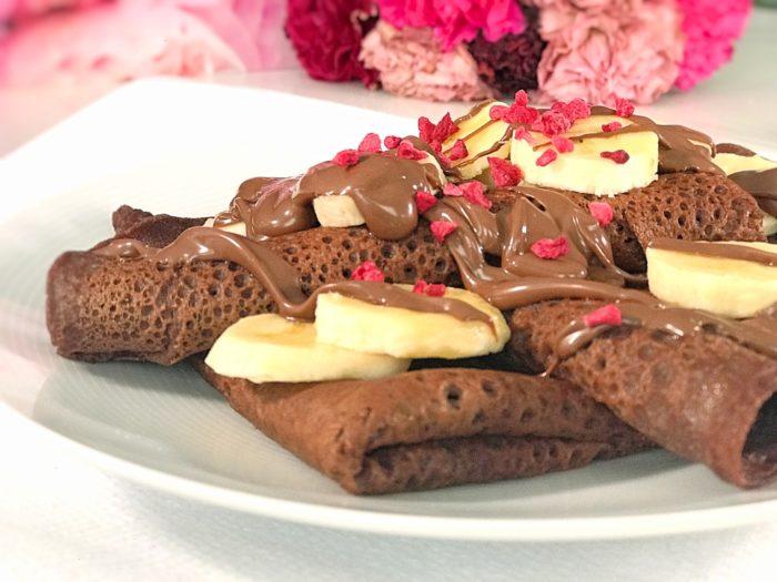 Glutenfria chokladpannkakor