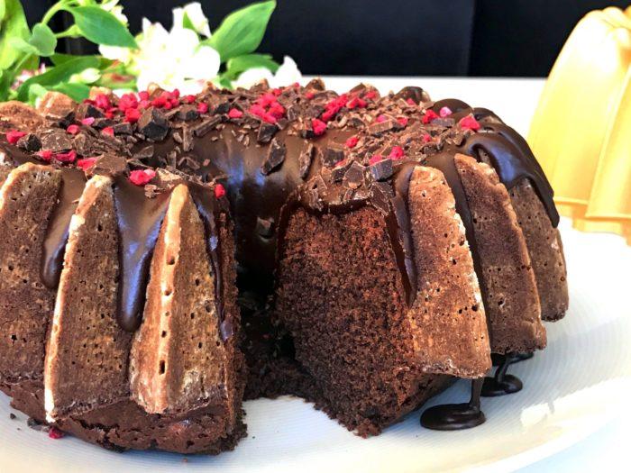 Glutenfri chokladsockerkaka